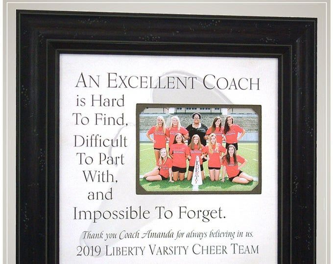 Cheerleading Gifts For Cheer Coaches In 2020 Handmade Wedding Gifts Wedding Gifts For Parents Photo Frame Gift