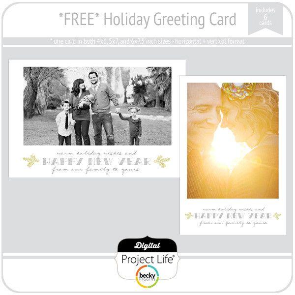 Holiday Greeting Card Freebie Photo Card Ideas