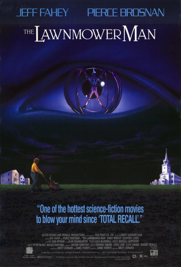 The Lawnmower Man - Review: The Lawnmower Man (1992) is an American action science fiction horror movie from the early… #Movies #Movie