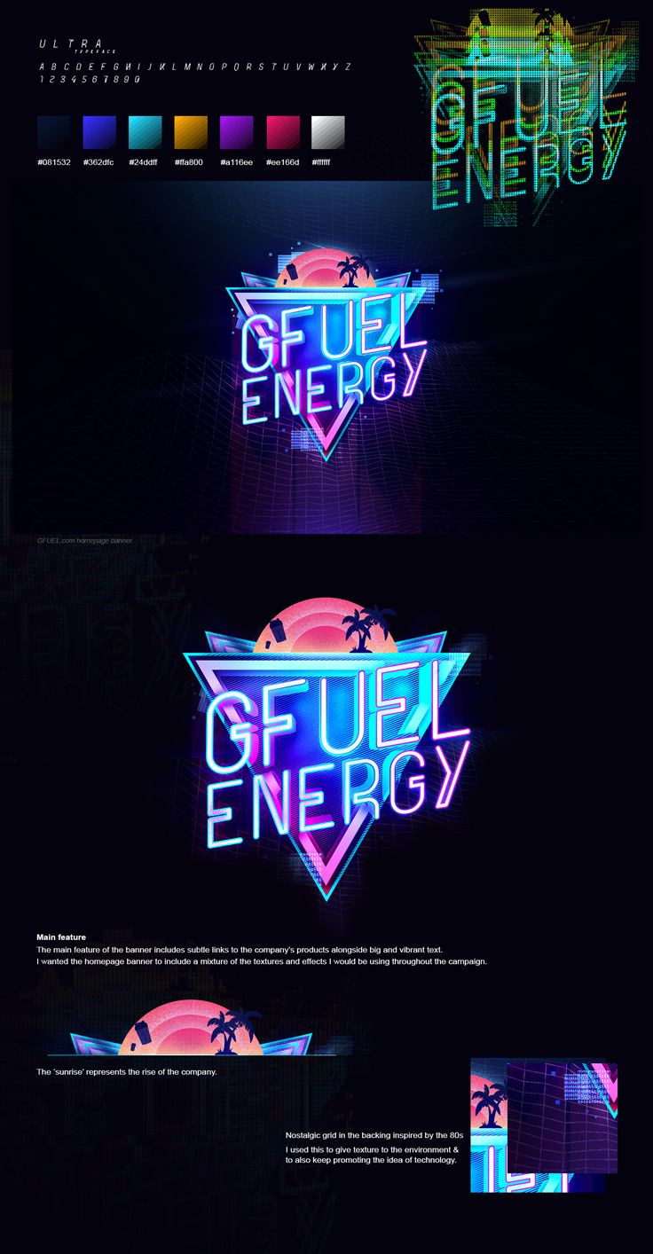 This gif has everything glitch pixel art graphic design vaporwave - Check Out This Behance Project Gfuel Energy Neon Campaign 2016