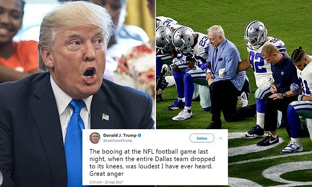Trump: Cowboys made big progress by standing during anthem | Daily Mail Online