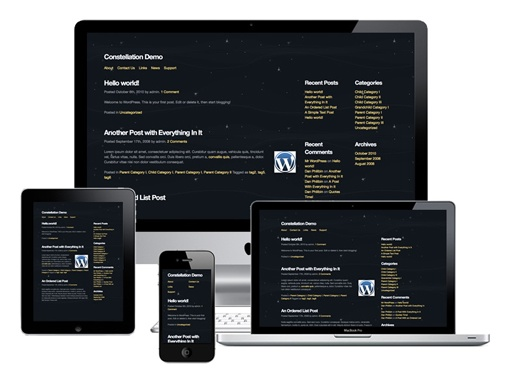 #responsive #wordpress #theme Constellation WordPress Theme