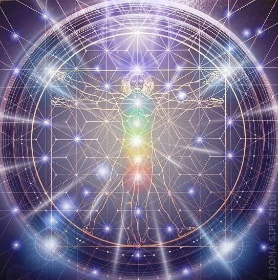 Man God • 90x90cm • sacred geometry • artist: joma sipe (portugal)