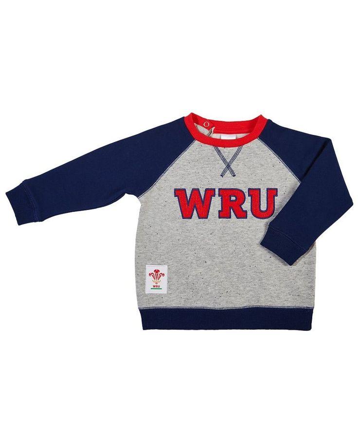 Wales WRU Rugby Baby Sweatshirt | 2017_18 Season. #rugby #6nations