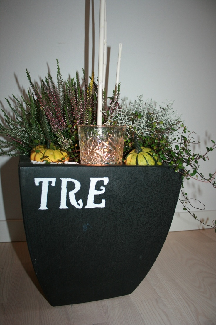 Creative autumn planting in a pimped pot. Great DIY gift for under 40$ INREDesign.se