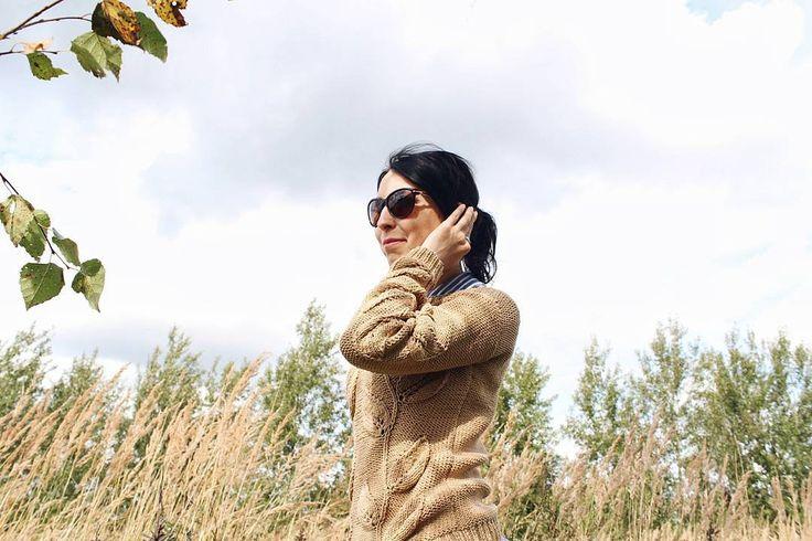 Свитер Листья,  свитер с листьями, вязаный свитер, вязаный джемпер, вязаный кардиган,  бежевый свитер