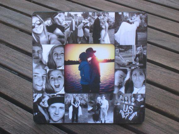 Boyfriend Collage Picture Frame Unique Graduation Gift Custom Engagement Wedding Collage Frame P