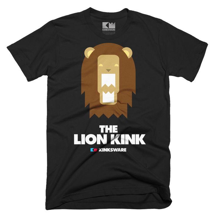THE LION KINK Short sleeve t-shirt (black/white) – Kinksware