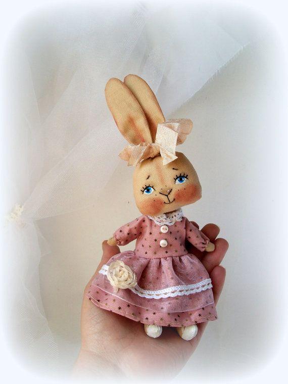 LittleDoll, Кролик куклы, куклы ткань, искусство куклы ручной работы, игрушка Кролик, животное игрушка, кролик кукла