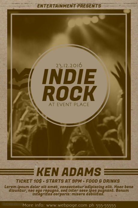 15 Best Indie Music Flyer Templates Images On Pinterest Music