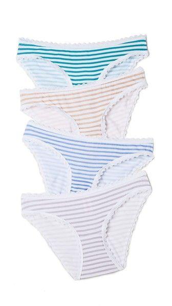 Cheek Frills Carolyn Murphy Breton Stripe Panty Pack