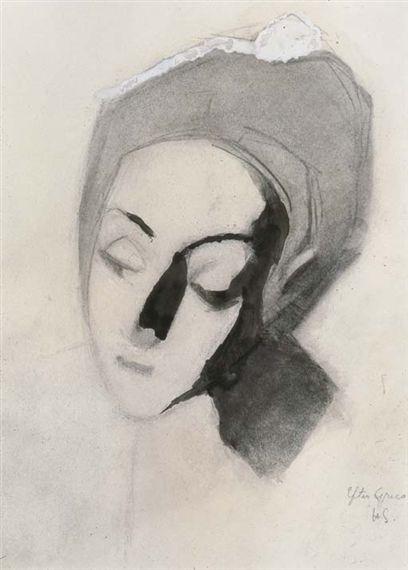 Helene Schjerfbeck, Spanjorska efter El Greco, Blek Madonna (Spanish lady after El Greco, Pale Madonna)