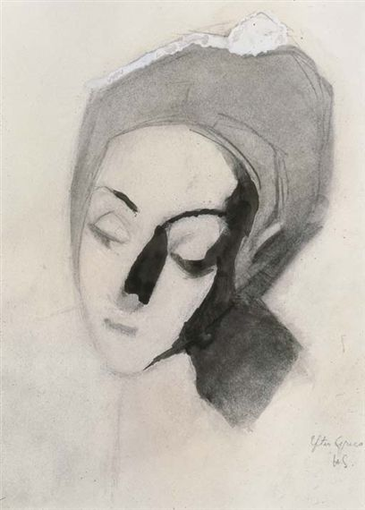Spanish lady after El Greco, Pale Madonna - 1943