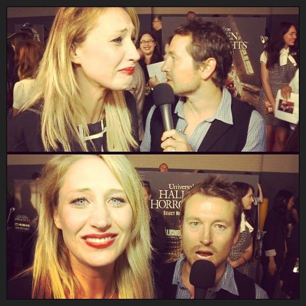 Maude Garrett's interview with Leigh Whannell at HHN 2013 (That time she cried because she saw Chucky, <3 you Maude x)