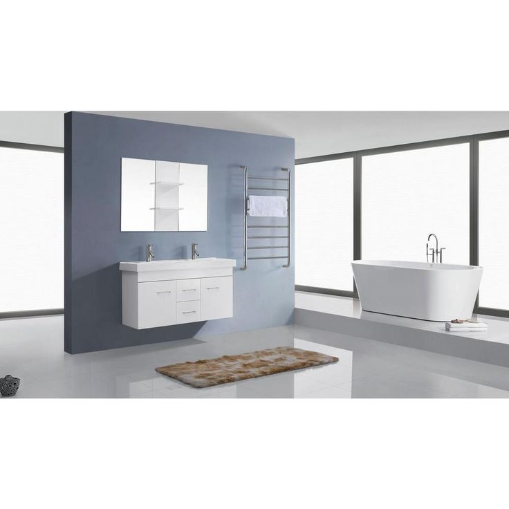 Awesome Websites Virtu USA Opal in Double Vanity in White with Ceramic Vanity Top in White and Mirror