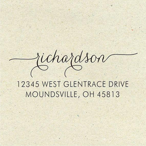 Return Address Stamp - Custom Address Stamp - Self-Inking Address Stamp - Return Address Label (035)