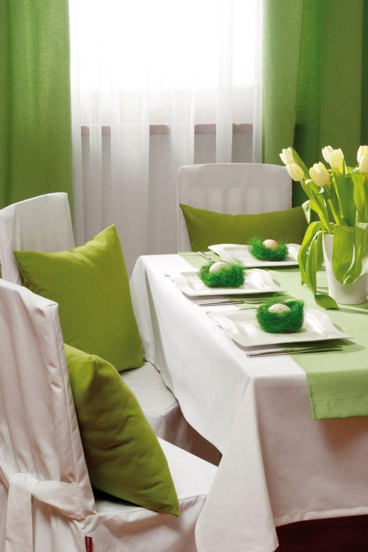 Ester green table. #dekoria #ester #wielkanoc #inspirations #inspiracje #jadalnia #diningroom #interior #wnetrza #urzadzamy #decorations #dekoracje