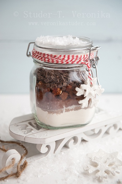 chocolate chip & mint cookie in a jar...