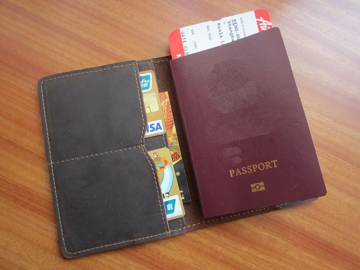 Leather Passport Case - Come Fly With Me by VIDA VIDA GPjP4TC