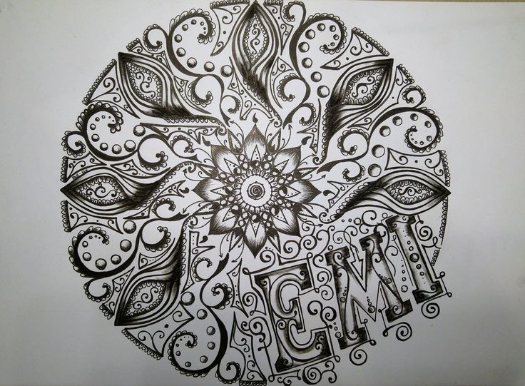Black & White mandala for EMI.