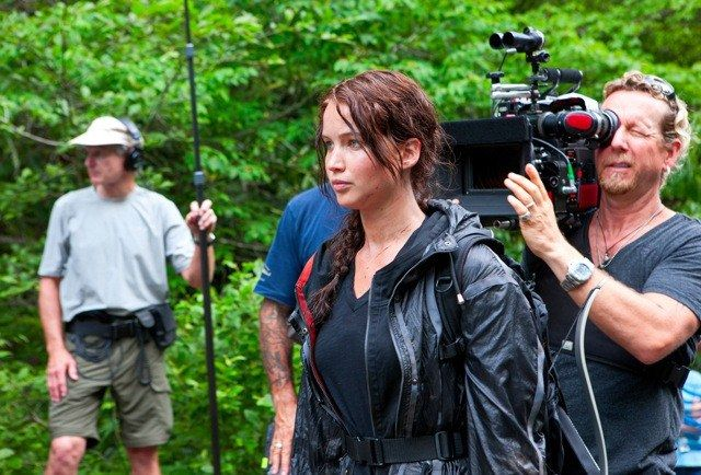 __Number of dollars it cost to make *The Hunger Games*:__ $78 million        __Number of dollars paid to Jennifer Lawrence for playing Katniss Everdeen in the first film:__$500,000 + bonuses based on the film's performance at the box office