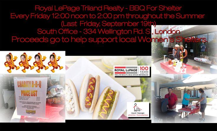 Royal LePage Triland Realty, Brokerage BBQ For Shelter