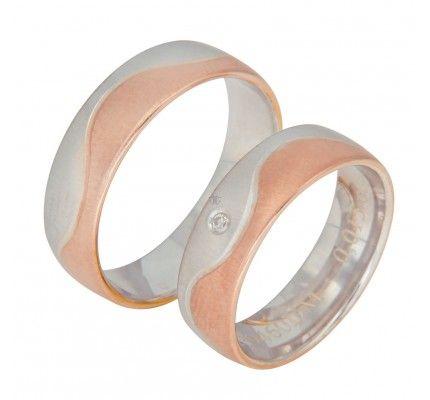 Βέρες #Bonise WE239460DM #wedding_ring #whitegold #gold #red_gold #marriage #proposal #love #faith