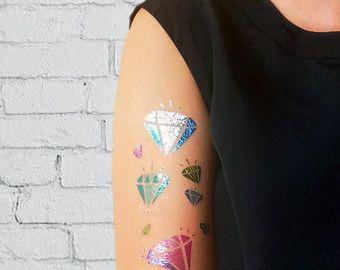 tatuaggi diamante tatuaggi tatuaggi temporanei di happytatts