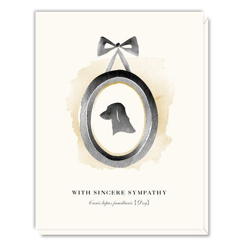 Reminiscent of treasured cameos of old to help remind someone of a loved one, this pet sympathy watercolor card helps to express the sadness of the loss of man's best friend. Printed on premium, cream