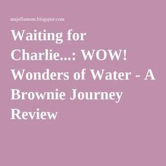 Waiting for Charlie...: WOW! Wonders of Water - A Brownie Journey Review