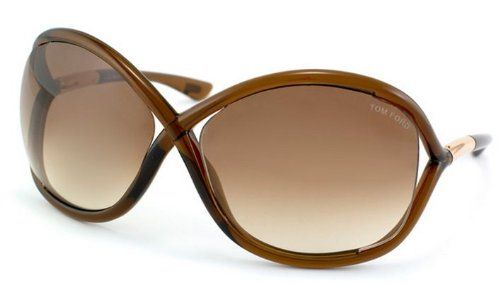 Tom Ford Whitney FT0009 Sunglasses - 692 Transparent Dark Brown (Gradient Brown Lens) - 64mm