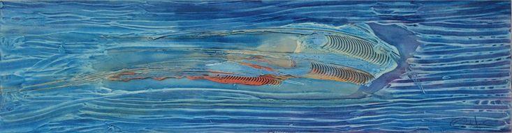 La obra La Tintorera es especial porque se refiere al tiburón hembra del Caribe que el maestro Oscarito García Jimeno plasma en un lienzo de 40 X 145 cm y que constituye una de las obras favoritas del reconocido artista cartagenero. #artecolombiano #arteabstracto #pinturas #acrílico #lienzo #caribecolombiano #cartagena #workofart Obra: La Tintorera Formato: 40 x 145 cm Técnica: acrílico sobre lienzo Contacto: 3016680225