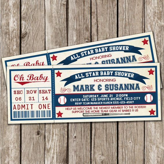 17 best ideas about baseball invitations on pinterest | baseball, Baby shower invitations