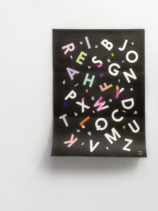 Alphabet Soup Coloring Poster