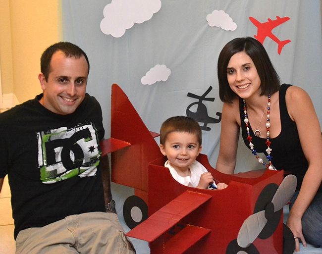 Airplane party: Troy is 2!