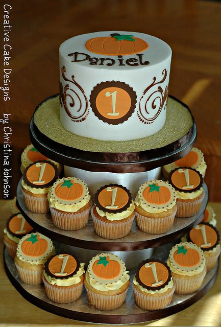 Fall Birthday Tower by Creative Cake Designs (Christina), via Flickr