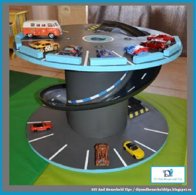 DIY And Household Tips: Turn A Giant Industrial Spool Into A Toy Garage