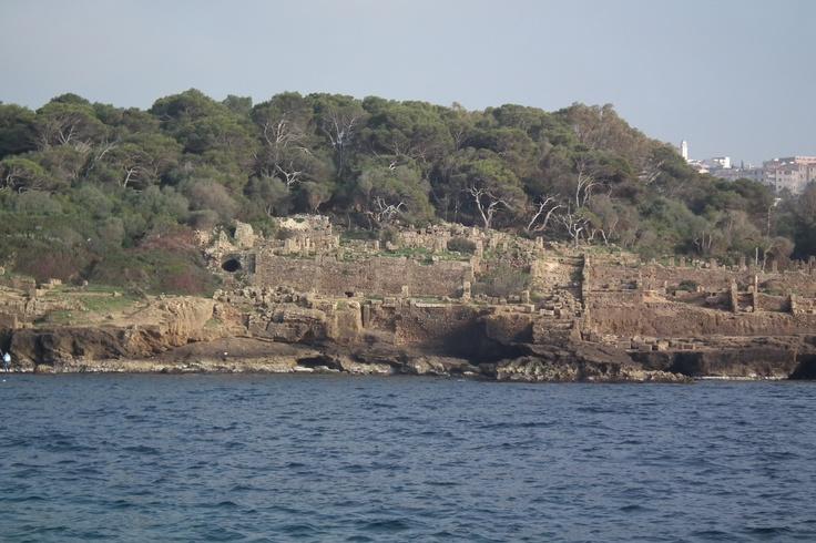 la ville romaine de TIPASA (ALGÉRIE) vue de mer; https://www.facebook.com/TimbooVoyage