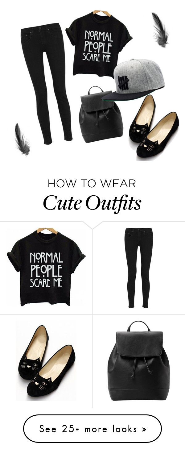 """A Edgy & Cute Fall Outfit"" by momopikaxx on Polyvore featuring rag & bone and MANGO"