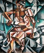 Man + Air + Space, 1915  by Lyubov Popova