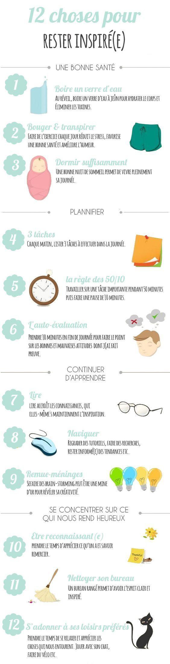 12 choses pour rester inspiré(e) !