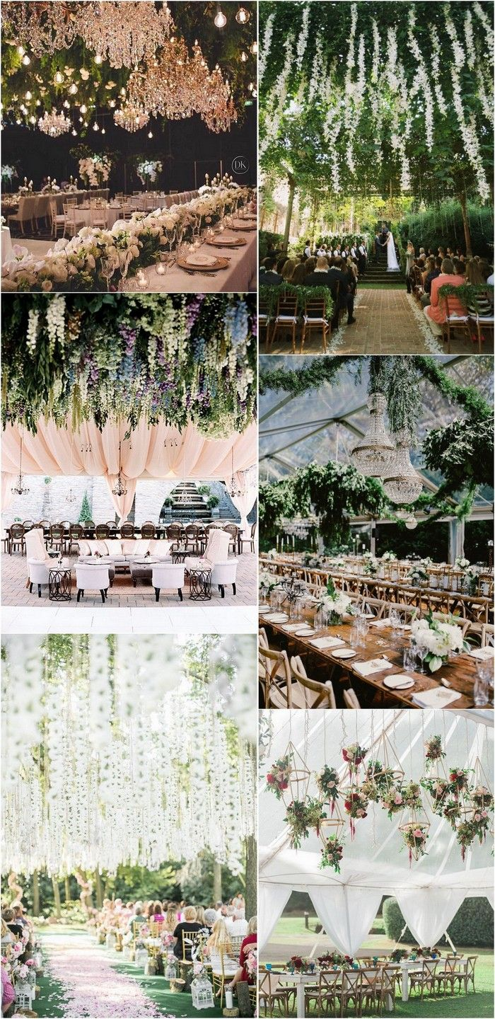 Flower hanging from the ceiling wedding decoration ideas #weddingdecor #weddingideas #weddingflowers