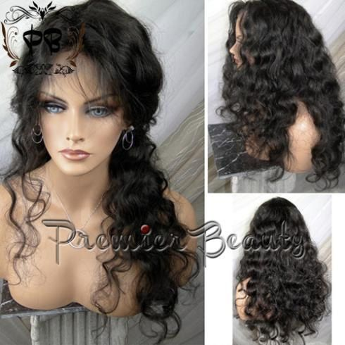 Free shipping human hair wig glueless full lace by PREMIERBEAUTY