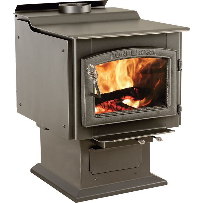 Vogelzang Ponderosa High-Efficiency Wood Stove — 152,000 BTU, EPA-Certified, Model# TR007 | Wood Stoves| Northern Tool + Equipment