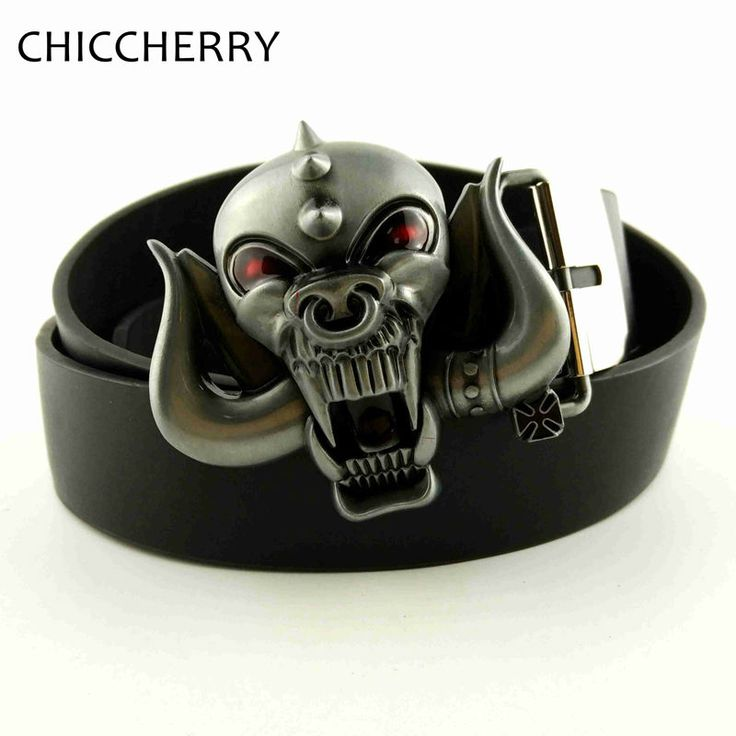 3D Motorhead Longhorns Music Cool Big Belt Buckles Metal For Men Jeans Rock Punk Fivelas De Cinto De Metal Male Hip Belts 130 cm