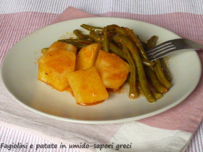 Fagiolini e patate in umido