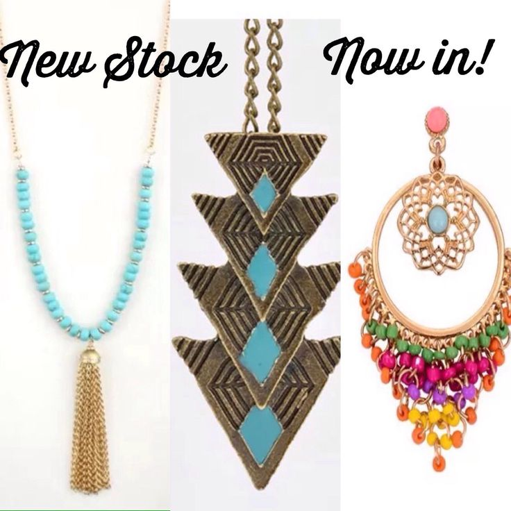 New stock now on store!  Check out these lovely new items listed in store, in limited amounts. Loving the colors, turquoise and beads on these pieces.
