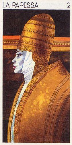 The High Priestess - Tarocchi Universali di Sergio Toppi - Rozamira Tarot - Picasa Web Albums