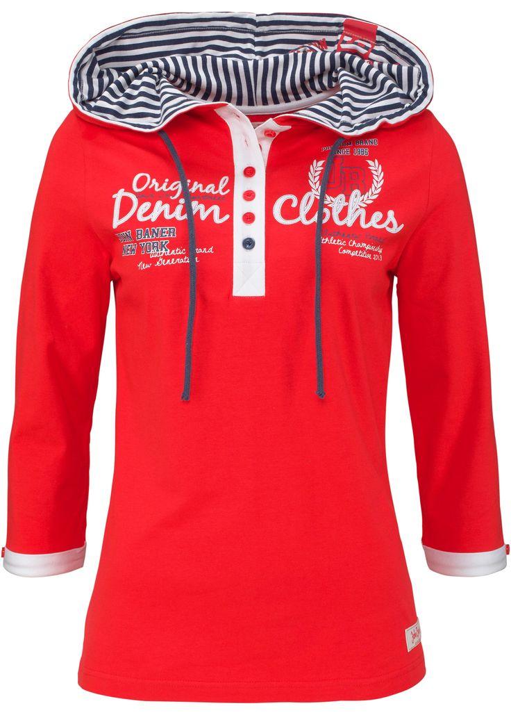 Shirt mit Kapuze, 3/4-Arm erdbeere - John Baner JEANSWEAR jetzt im Online Shop von bonprix.de ab ? 14,99 bestellen. Mit Druck vorn und in der Kapuze, ...