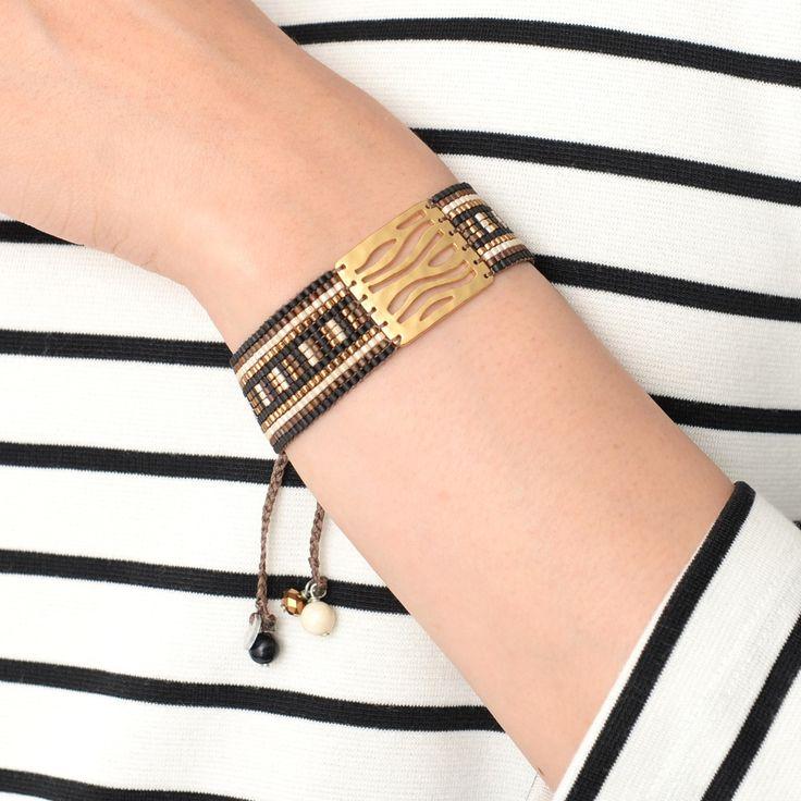 デザインプレート使いブレスレット(MISHKY) #embellish #mishky #accessory #fashion #bracelet #trend…